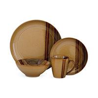 Sango Alpha 16-Piece Dinnerware Set (Brown)