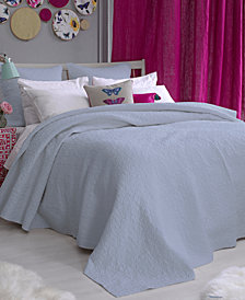 bluebellgray Fern Solid Arctic Ice Full/Queen Coverlet