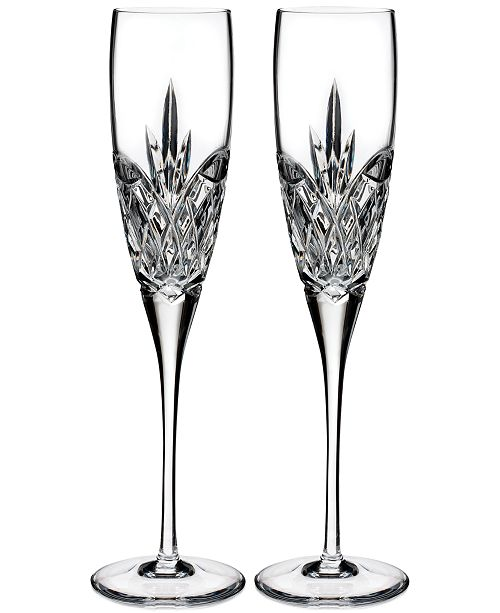 Waterford Artisan Signed Love Forever Flute, Set of 2