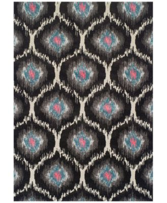 "Neo Grey Grate Charcoal  5'3"" x 7'7"" Area Rug"