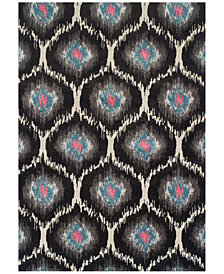 "Neo Grey Grate Charcoal  9'6"" x 13'2"" Area Rug"