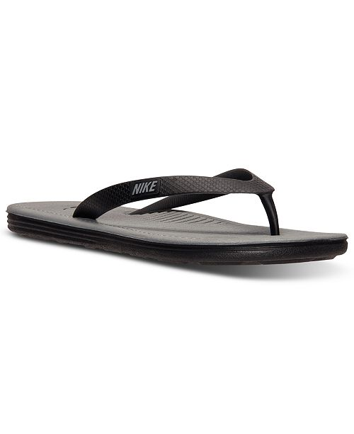 0ea1d12e0e2635 Nike Men s SolarSoft Thong II Sandals from Finish Line   Reviews ...