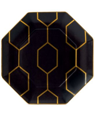 Arris Octagonal Accent Plate Charcoal