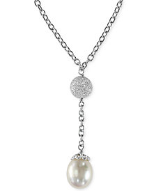 EFFY Cultured Freshwater Pearl Drop Pendant Necklace in Sterling Silver (10mm)
