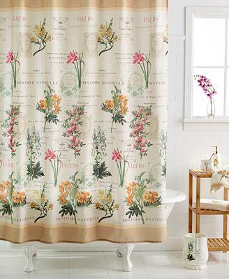 avanti bath accessories, alana shower curtain - bathroom