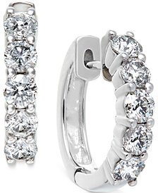 Diamond Hoop Earrings in 14k White Gold (1-1/2 ct. t.w.)