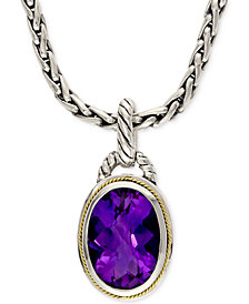 EFFY Amethyst Pendant Necklace in 18k Gold and Sterling Silver (5-3/4 ct. t.w.)