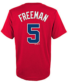 Majestic Kids' Freddie Freeman Atlanta Braves Player T-Shirt