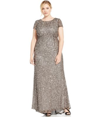 Adrianna Papell Plus Size Embellished Gown - Dresses - Plus Sizes ...
