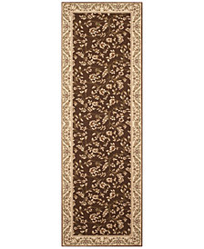"CLOSEOUT! KM Home Area Rug, Princeton Floral Brown 2'7"" x 7'10 Runner Rug"