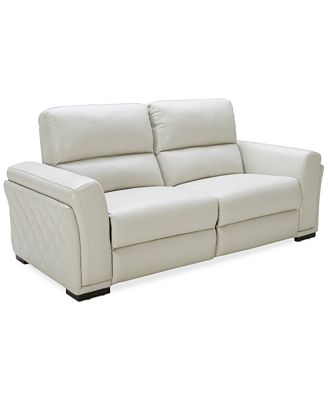 Jessi 2 pc Leather Sectional Sofa with 2 Power Recliners