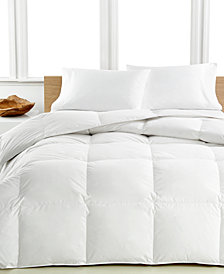 Calvin Klein Medium Warmth Down King Comforter, Premium White Down Fill, 100% Cotton Cover
