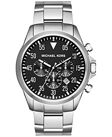 Men's Chronograph Gage Stainless Steel Bracelet Watch 45mm MK8413