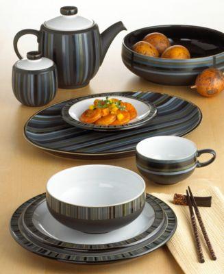 Image 2 of Denby Dinnerware Jet Stripes Oval Platter & Denby Dinnerware Jet Stripes Oval Platter - Dinnerware - Dining ...