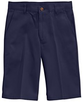 900400f8 Nautica Uniform Flat Front Twill Slim Shorts, Big Boys
