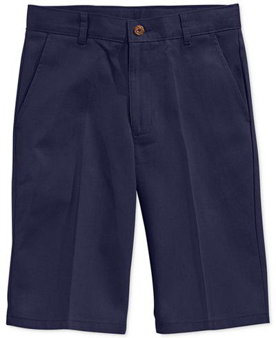 Nautica Uniform Flat Front Twill Slim Shorts Boys