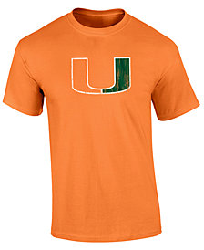 J America Men's Miami Hurricanes Big Logo T-Shirt