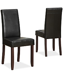 Avery Faux Leather Parson Chairs, Quick Ship (Set of 2)