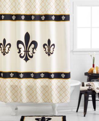 Avanti, Fleur De Lis Shower Curtain