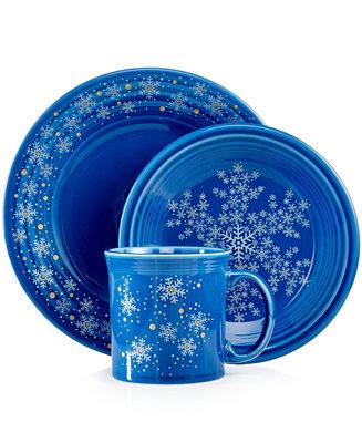 Fiesta Macy S Exclusive Snowflake Collection Dinnerware