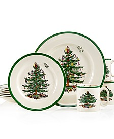 Christmas Tree 12-Pc. Dinnerware Set, Service for 4