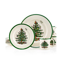 Deals on Spode Christmas Tree 12-Pc. Dinnerware Set