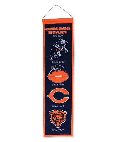 Winning Streak Chicago Bears Heritage Banner