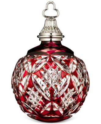 Waterford Crystal 2015 Red Cased Ball Ornament