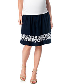 A Pea In The Pod Maternity Embroidered A-Line Skirt