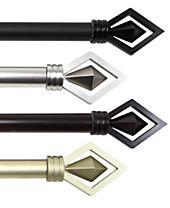 Rod Desyne Lenore Single Curtain Rod Collection