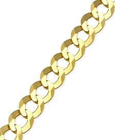 Cuban Chain Link Bracelet in 10k Gold