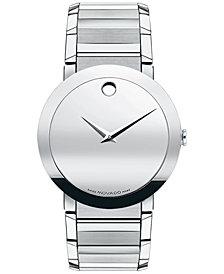 Movado Men's Swiss Sapphire Stainless Steel Bracelet Watch 38mm 0606093