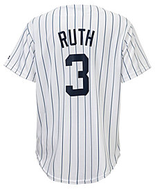 Majestic Kids' Babe Ruth New York Yankees Cooperstown Jersey, Big Boys (8-20)