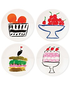 kate spade new york all in good taste Set of 4 Stoneware Appetizer Plate Set