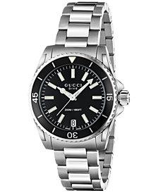 Gucci Women's Swiss Dive Stainless Steel Bracelet Watch 32mm YA136403
