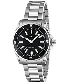 429ca21ca7e Gucci Men s Swiss Dive Stainless Steel Bracelet Watch 45mm YA136208 ...