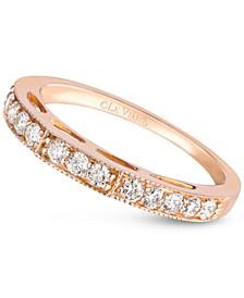 Diamond Wedding Band (3/8 ct. t.w.) in 14k Rose Gold