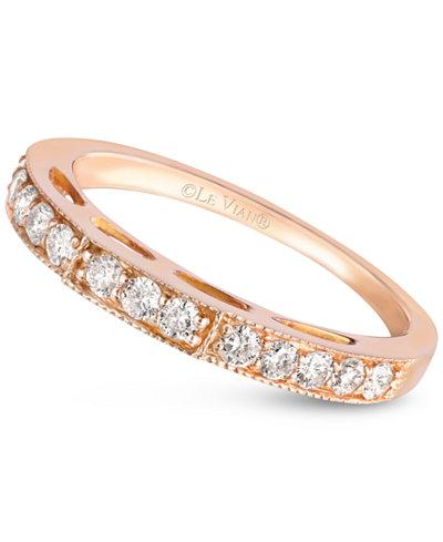 Le Vian Diamond Wedding Band 3 8 Ct T W In 14k Rose