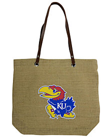 Little Earth Kansas Jayhawks Burlap Tote
