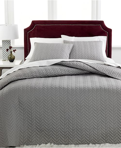 Charter Club CLOSEOUT! Collection Herringbone Quilted Bedspread Sets, Created for Macy's