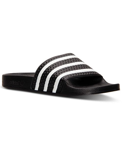 26ea203bb1394 adidas Men s Adilette Slide Sandals from Finish Line   Reviews - All ...