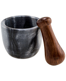 Thirstystone Black Marble Mortar & Sheesham Wood Pestle