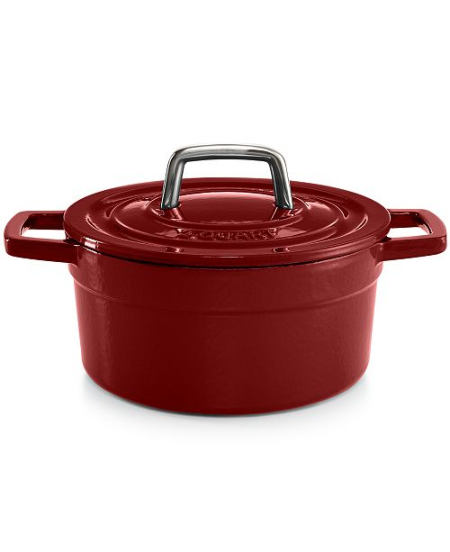 Martha Stewart Collection CLOSEOUT! Collector's Enameled Cast Iron 2 Qt. Round Dutch Oven, Created for Macy's