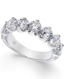Certified Diamond Scalloped Ring (2 ct. t.w.) in 14k White Gold