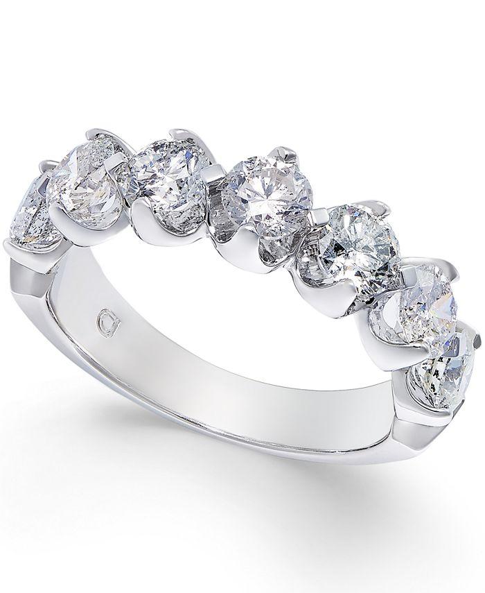 Macy's - Certified Diamond Scalloped Ring (2 ct. t.w.) in 14k White Gold
