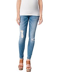 Motherhood Maternity Distressed Skinny Jeans, True Blue Wash