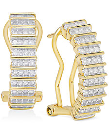 Victoria Townsend Rose-Cut Diamond Hoop Earrings (1/2 ct. t.w.) in 18k Gold over Sterling Silver or Sterling Silver