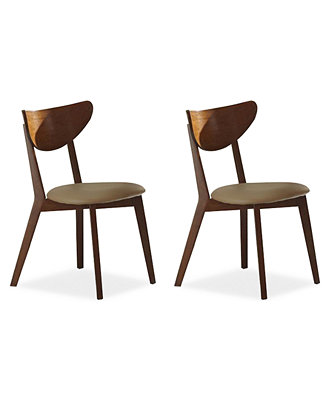 Alva Set of 2 Dining Chairs Direct Ship Furniture Macy s
