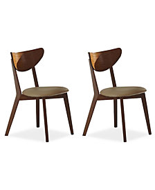 Alva Set of 2 Dining Chairs, Quick Ship