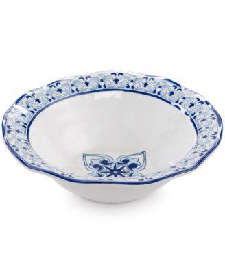 """Talavera Azul Collection Melamine 12"""" Serving Bowl"""